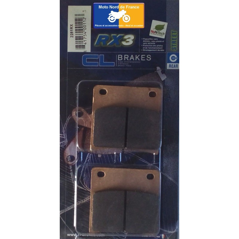 Set of pads type 2281 RX3