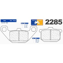 Set of pads type 2285 A3+