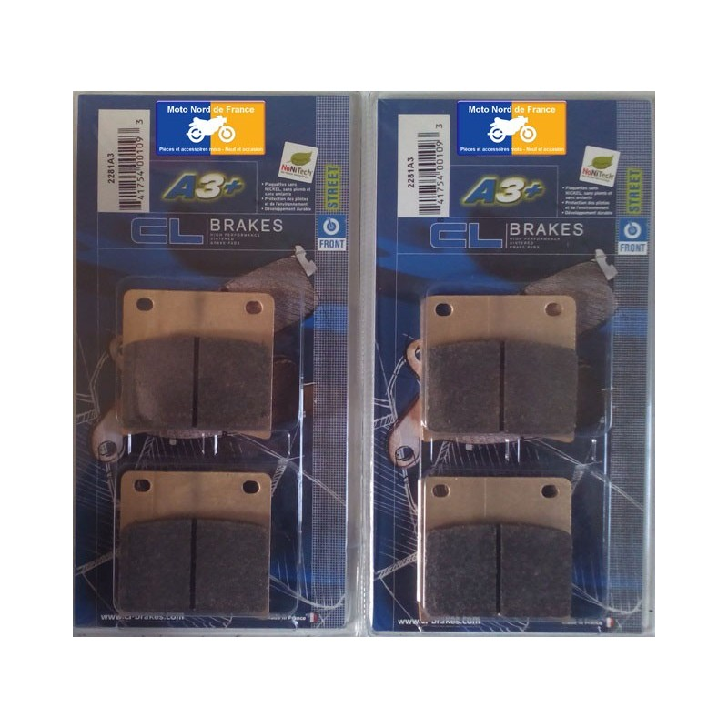 2 sets of front brake pads for Suzuki GSX 1100 F (GV72A) 1988-1995