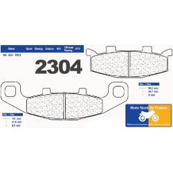 Set of pads type 2304 RX3