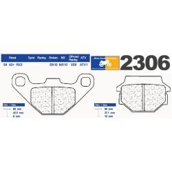 Set of pads type 2306 RX3