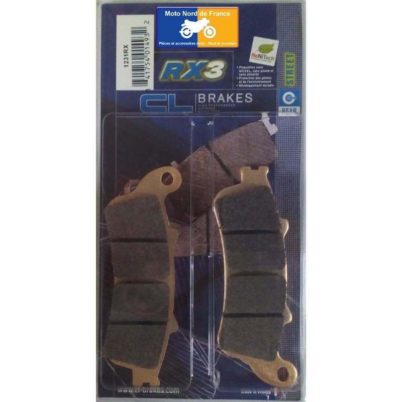 Set of pads type 1231 RX3