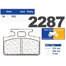 Jeu de plaquettes type 2287 RX3