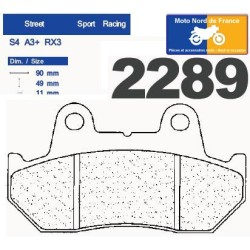 Set of pads type 2289 A3+