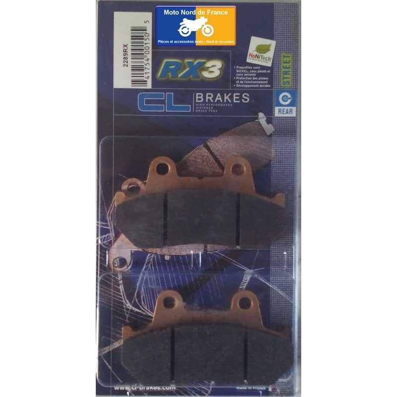 Set of pads type 2289 RX3