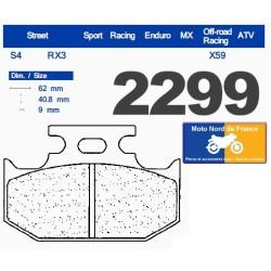 Set of pads type 2299 RX3