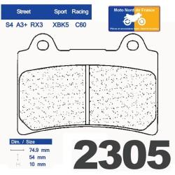 Set of pads type 2305 RX3