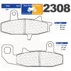 Set of pads type 2308 A3+