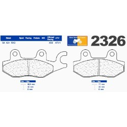 Set of pads type 2326 A3+
