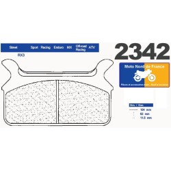 Set of pads type 2342 RX3