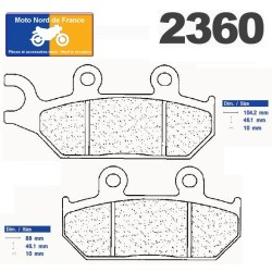 Set of pads type 2360 A3+