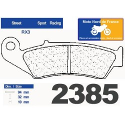 Set of pads type 2385 RX3