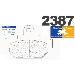 Set of pads type 2387 A3+