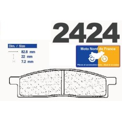 Set of front brake pads CL for Yamaha DT 50 LC 1998-2000
