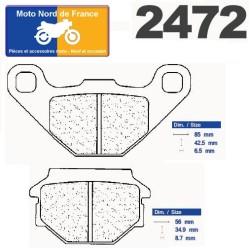 Set of pads type 2472 RX3