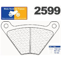 Set of pads type 2599 RX3