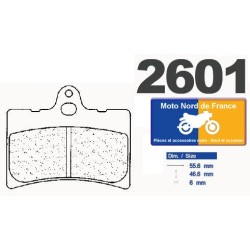 Set of pads type 2601 S4