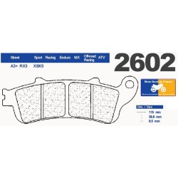 Set of pads type 2602 RX3