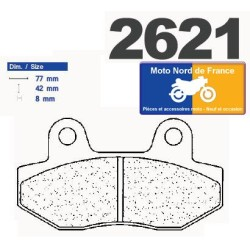 Set of pads type 2621 A3+