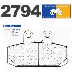 Set of pads type 2794 A3+