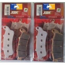 2 Sets of front brake pads for Honda GL 1800 Goldwing 2001-2011