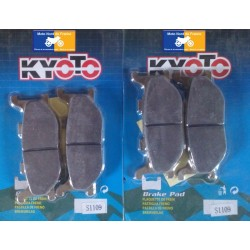 2 Sets of front pads Kyoto for Yamaha XVS 1300 A Midnight Star 2007-2016