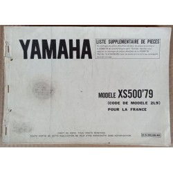 Complement parts list Yamaha 500 XS 1979 - ref.00078