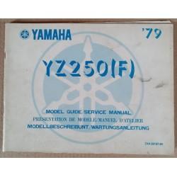 Model guide Yamaha 250 YZ (F) 1979 - ref.00220