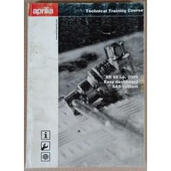 Cahier stage technique Aprilia SR 50 / Easy dashboard / SAS - ref.00222