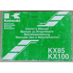 Owner's manual Kawasaki KX 85, KX 100 - ref.00229
