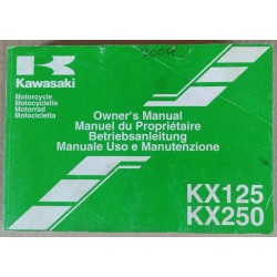 Owner's manual Kawasaki KX 125 / 250 (M) - ref.00230