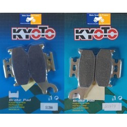 2 Sets of front pads Kyoto for Bombardier 650 DS (4x2) 2000-2003
