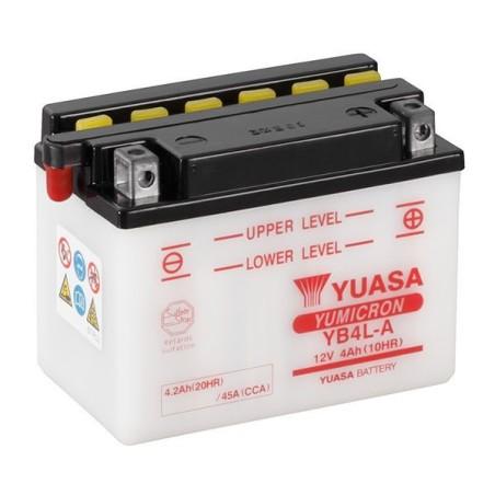 Batterie YUASA type YB4L-A (livrée sans acide)