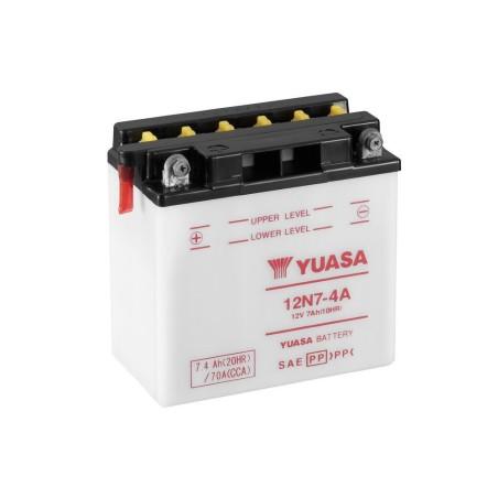 Batterie YUASA type 12N7-4A (livrée sans acide)