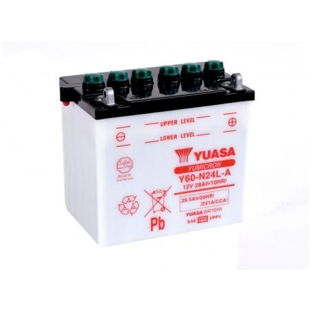 Batterie YUASA type Y60-N24AL-B (livrée sans acide)