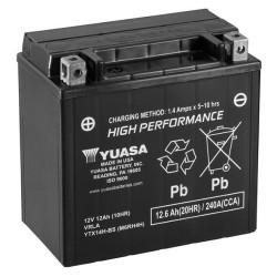 Batterie YUASA type YTX14H-BS AGM (avec acide)