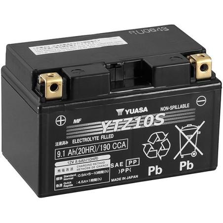 Batterie YUASA type YTZ10-S AGM prête à l'emploi
