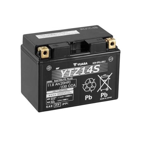 Batterie YUASA type YTZ14-S AGM prête à l'emploi