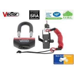 VECTOR Minimax + SRA disc lock with motorcycle support