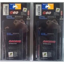 2 jeux de plaquettes avant racing pour Suzuki 600/750 GSXR 2004-2010