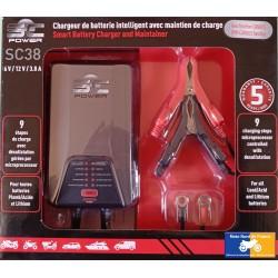 Chargeur de batterie SCpower SC38 plomb/lithium 6/12V 0.8-3.8A