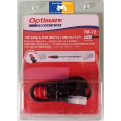 Adapter Optimate for cigarette lighter socket with fuse
