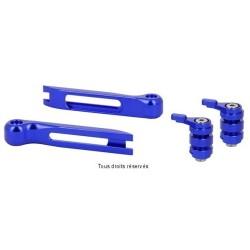 Jeu d'embout et molettes bleus pour leviers articulés Sifam