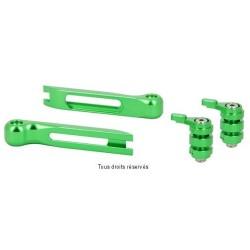 Jeu d'embout et molettes verts pour leviers articulés Sifam