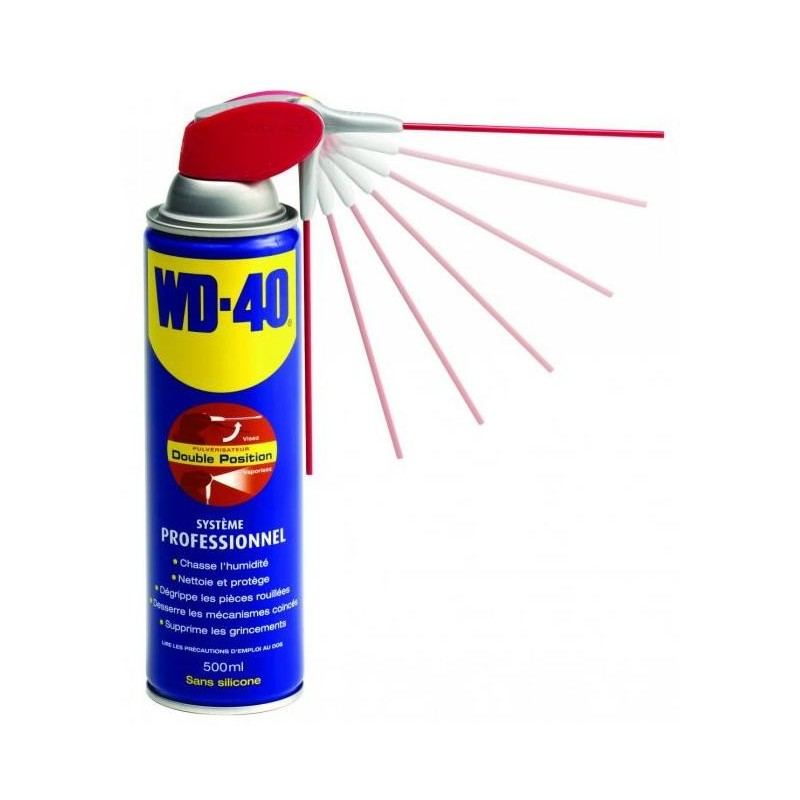 Spray multi-fonction WD-40 500 ml double position