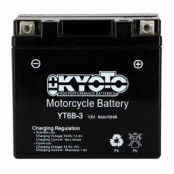 Battery KYOTO type YT6B-3 AGM ready to use