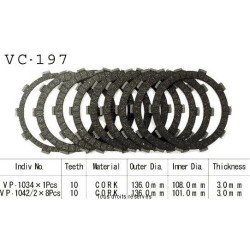 Clutch friction plates CB 600 Hornet 1998-2002