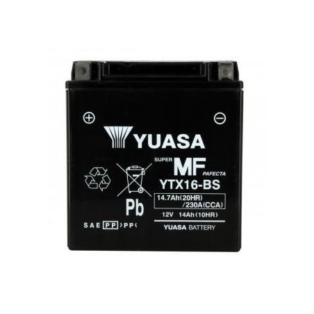 Batterie YUASA type YTX16-BS