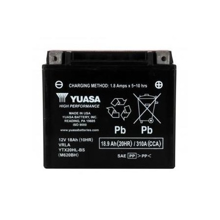 Batterie YUASA type YTX20HL-BS AGM